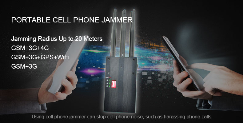 Portable Cell Phone Jammer Block GPS WiFI
