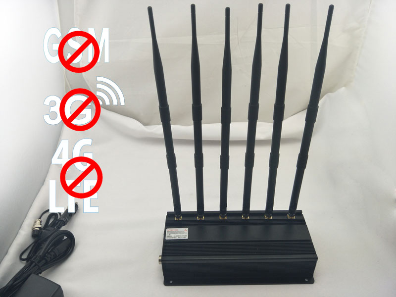 Adjustable 3g gsm cdma dcs phs cell phone jammer | High Power 6 Antenna Cell Phone,GPS,WiFi,VHF,UHF Jammer