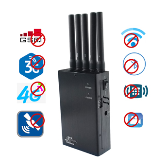 Portable 3G/4G Cell Phone Jammer  GPS  Jamming Devices High Power WIFI Blocker  5 Bands