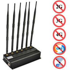 block mobile phone signals - Ajustable WIFI Jammers for Sale,Desktop cell phone/GPS/UHF/VHF Jamming