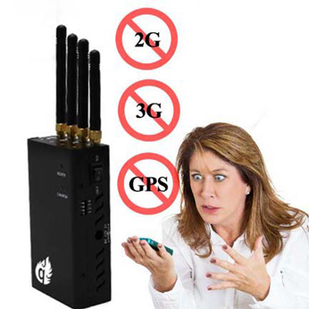Portable Mobile GSM 3G Phone Jammer Blocking WIFI GPS Frequency