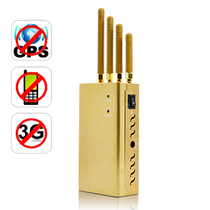 anti blocker - 4 Antenna Handheld Cell Phone WIFI GPS Jammers,Easy to Carry