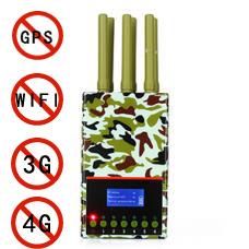 Handheld Jammer GSM 3G 4G LTE Blocker Jamming WiFi GPS Lojack