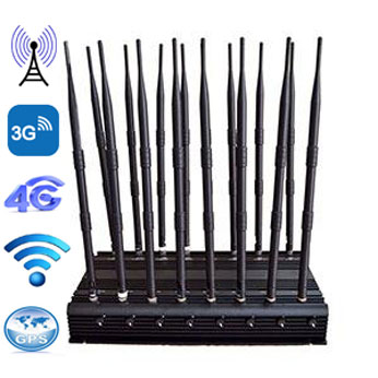 wireless phone jammer retail - 16 Bands 100-2700MHz Jamming Powerful Signal Blocker
