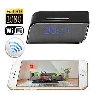 signal jamming bag stand - HTP11 WIFI Alarm Clock HD Hidden Camera