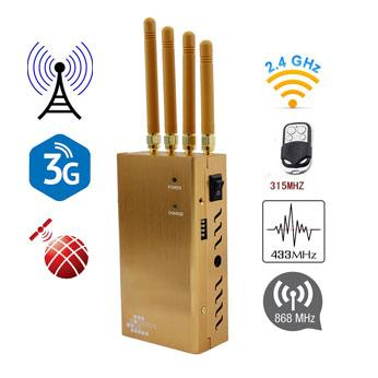 Portable GSM 3G  WIFI GPS 433 315 868MHz Remote Control Jammer