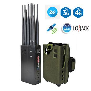 10 Bands Portable WiFi GPS Lojack Phone Jammer Powerful