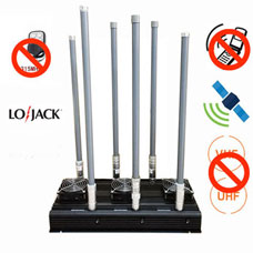 Block cell phone signals , Desktop 6 Bands Cell Phone Signal UHF VHF Jammer
